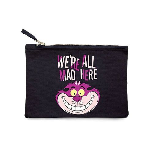 Disney Alice Wonderland Cheshire Cat Make Up Bag Toiletry Pouch